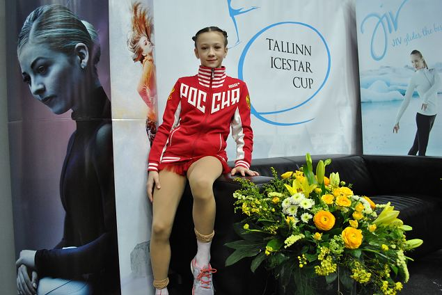 Polina POZEN from S-Petersburg, 3th place - Advanced Novice girls